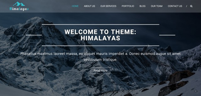Photo of a website built with Hymalayas theme