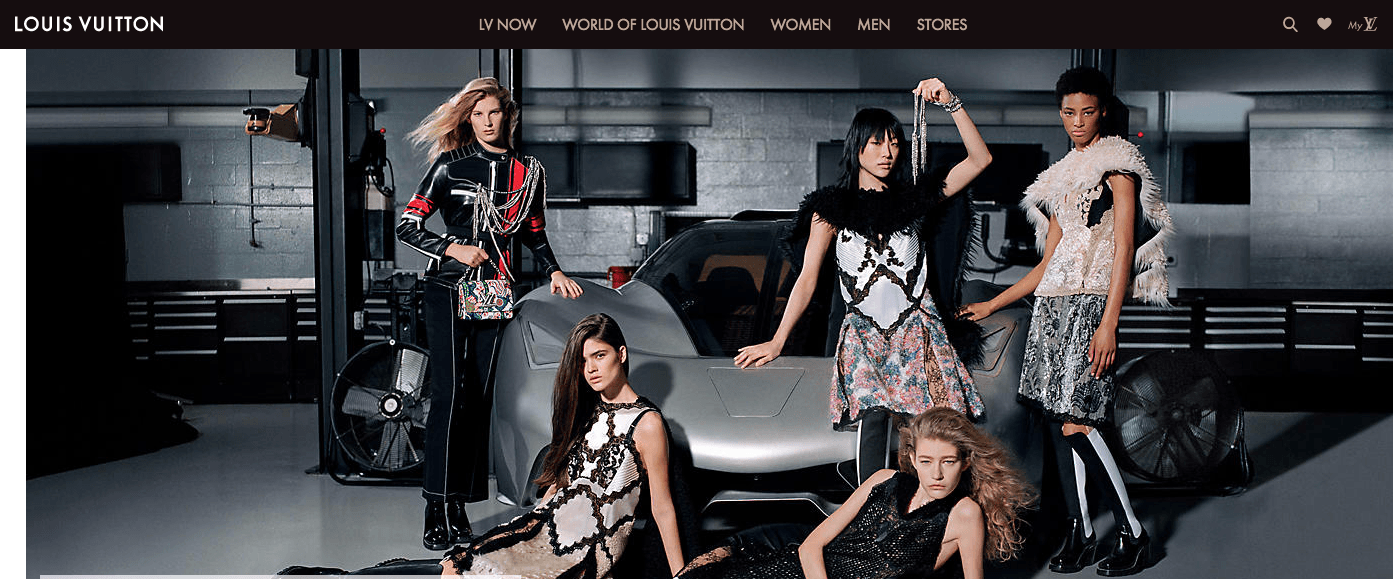 image of Louis Vuitton website