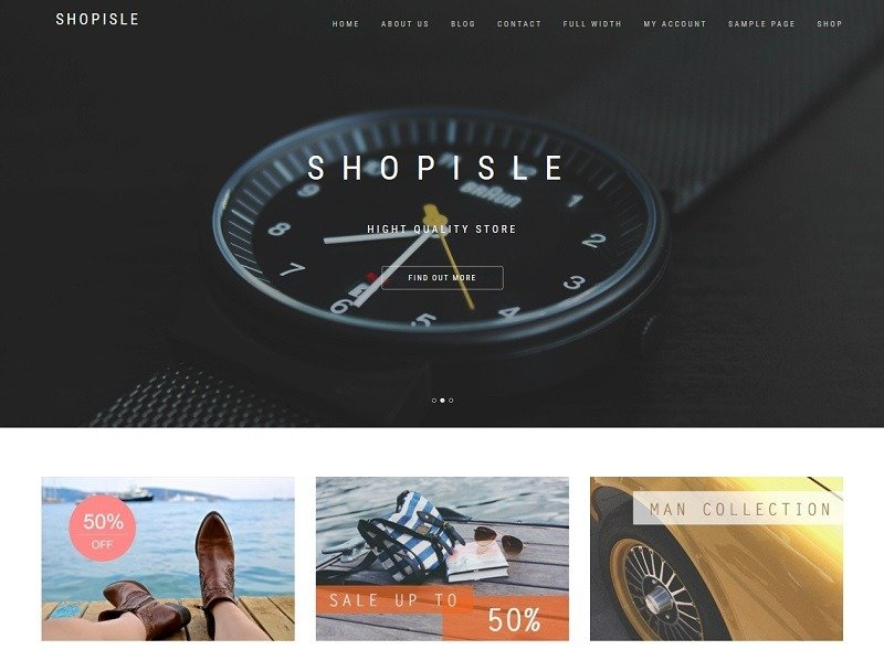 Photo of a website built with ShopIsle theme