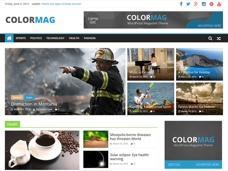 Photo of a website built with ColorMag theme