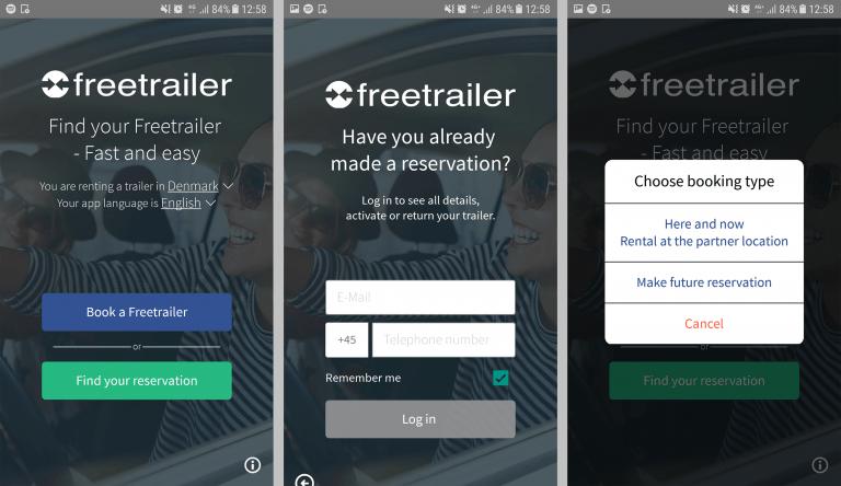 Freetrailer app