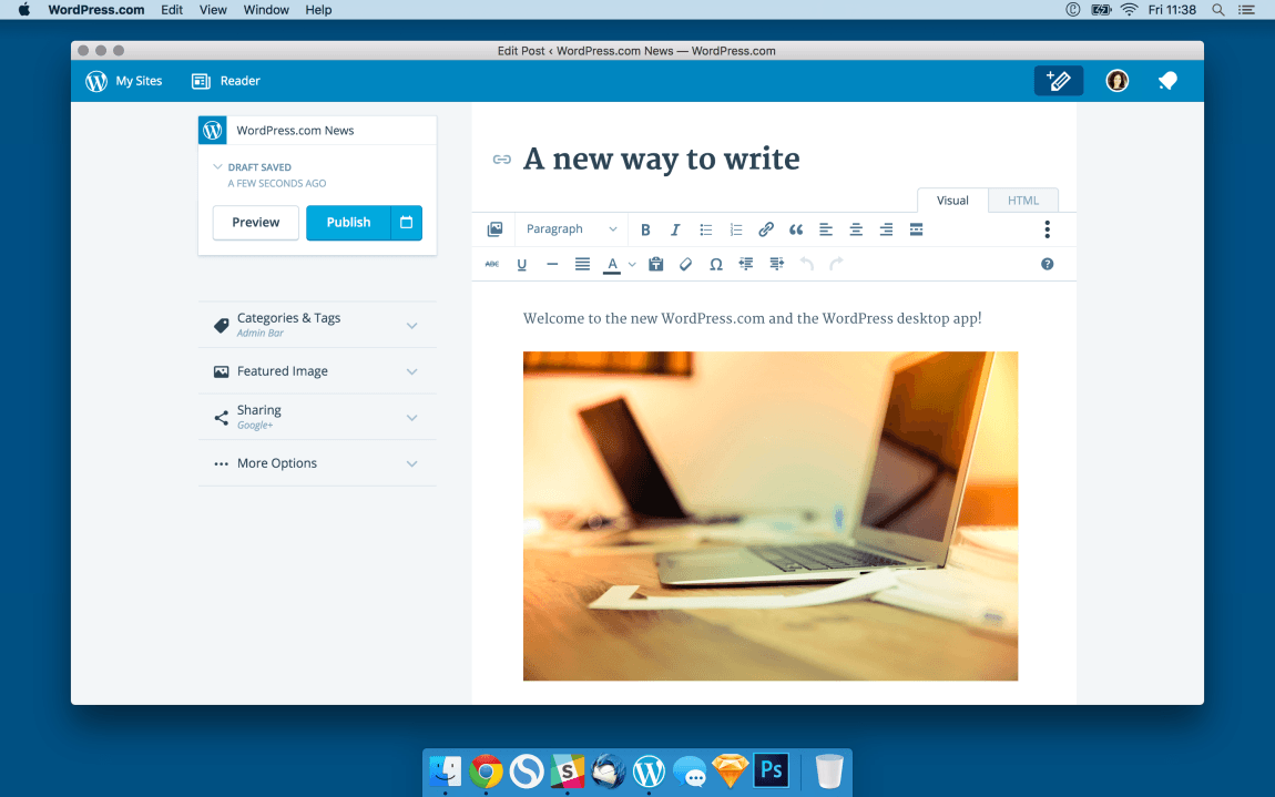 WordPress Desktop Electron App