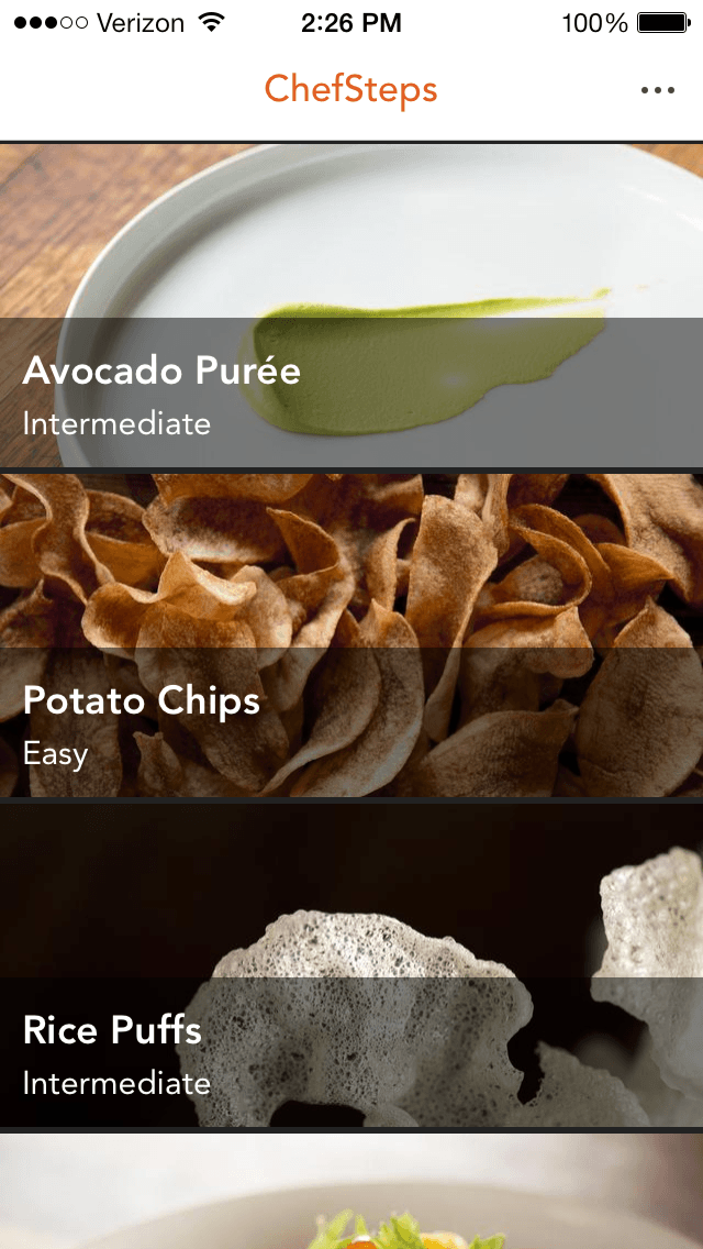 ChefSteps Ionic App