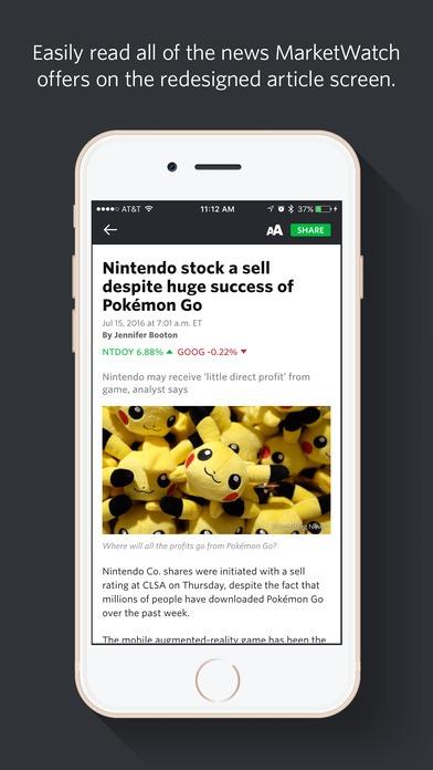 MarketWatch Ionic app