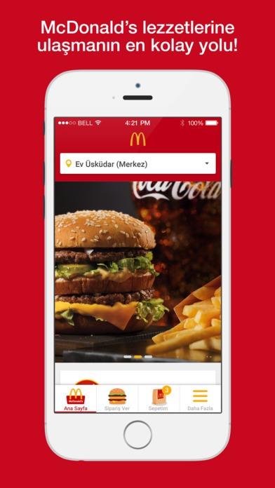 McDonalds Turkey Ionic app