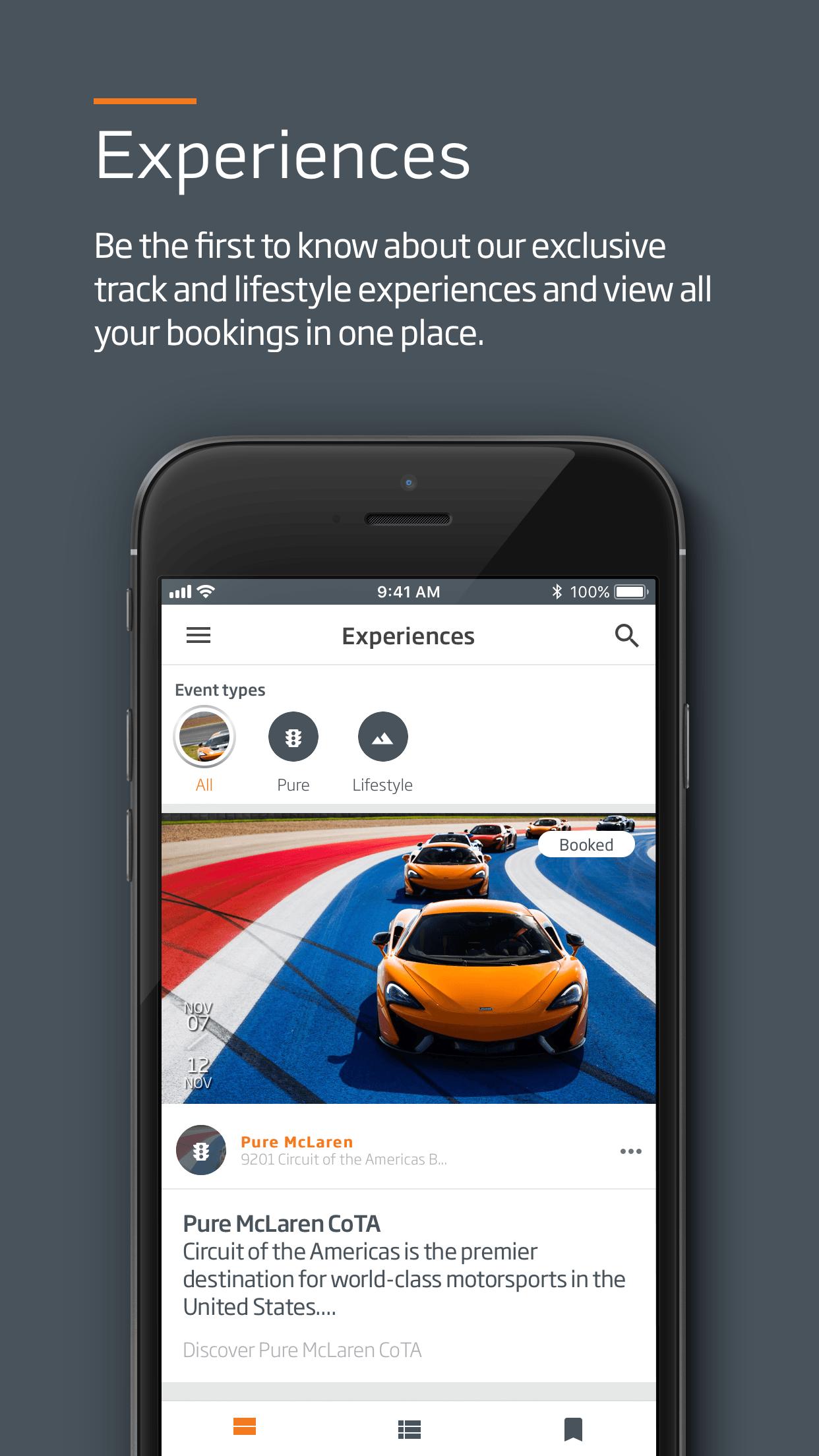 McLaren Ionic app