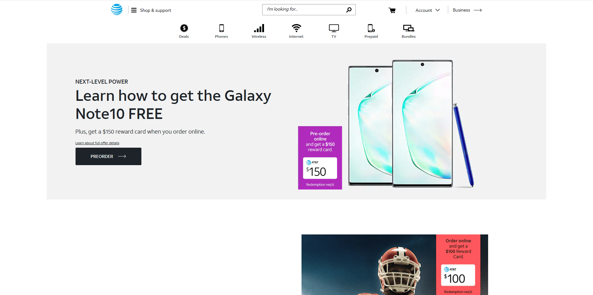 at&t website's picture