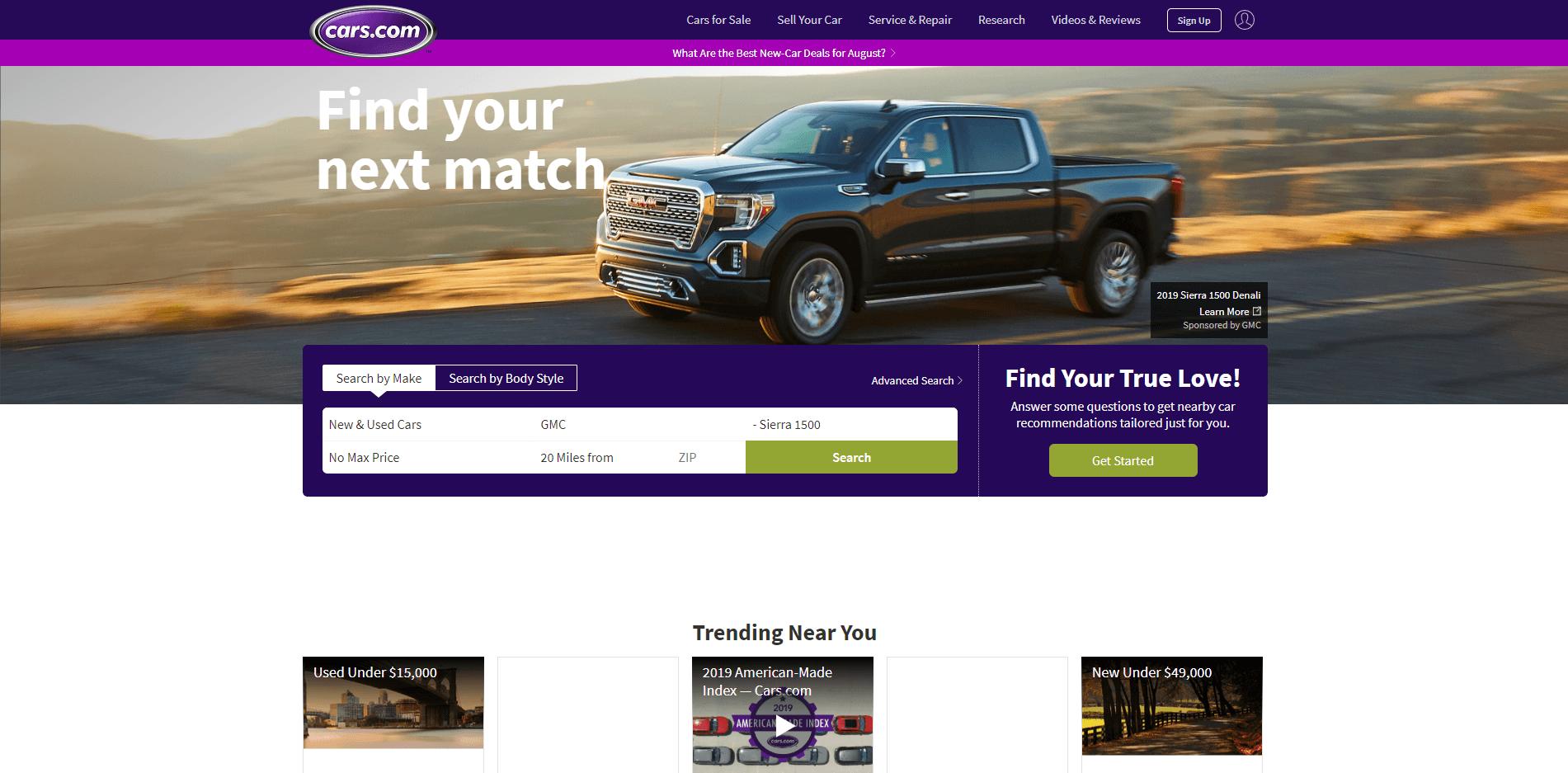 car.com website's picture