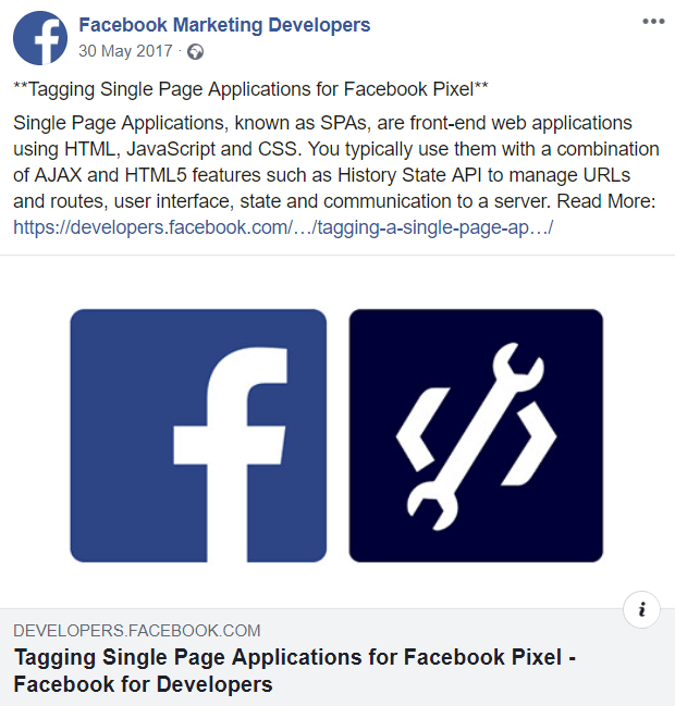 Single Page Applications and Facebook