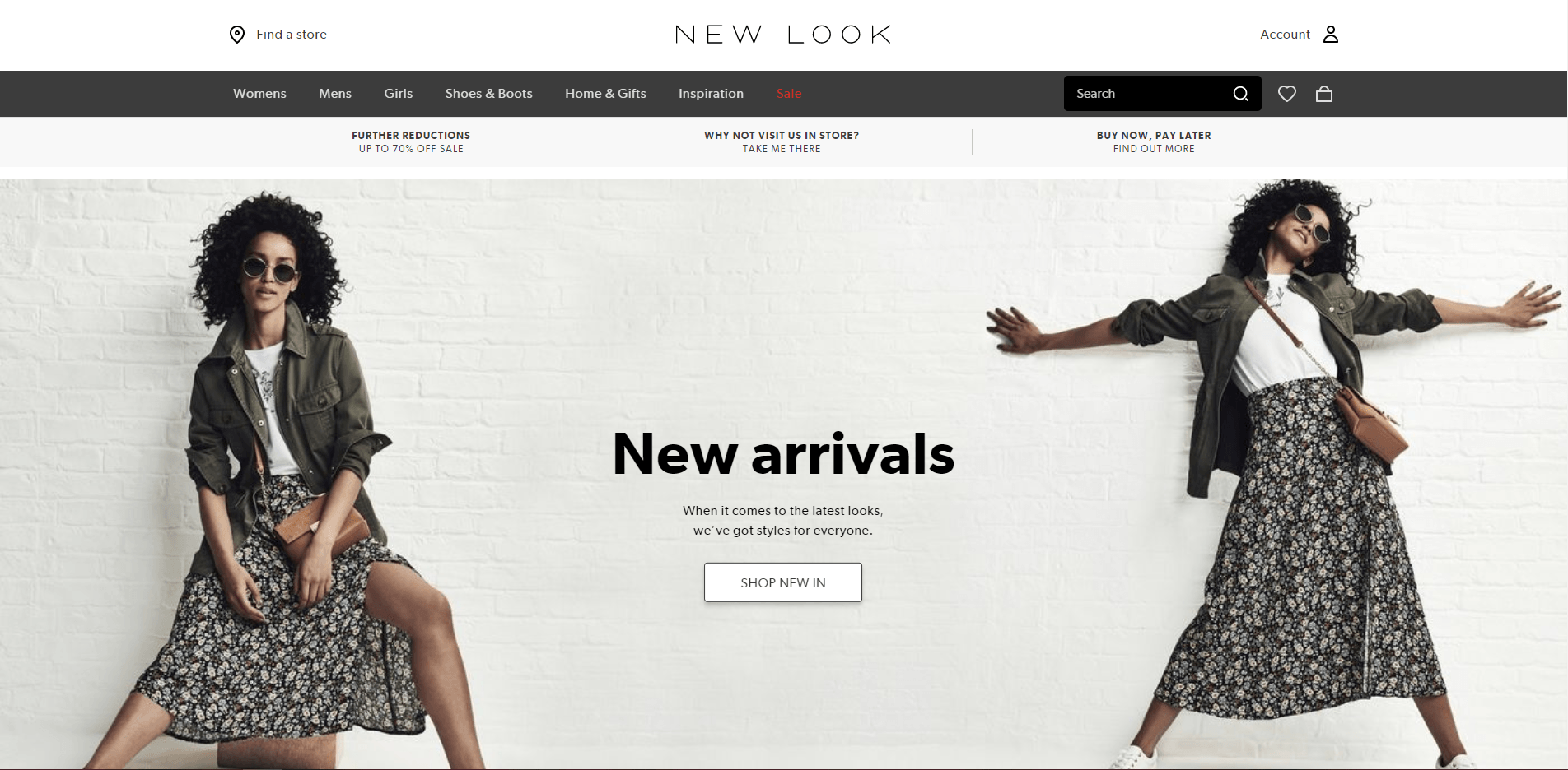 Newlook website's picture