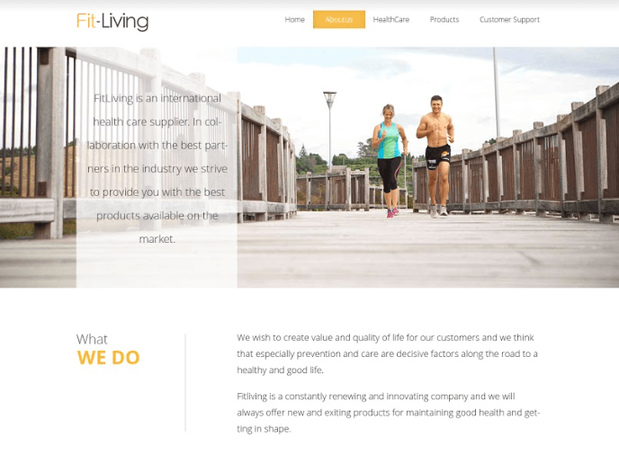 Fit-living homepage