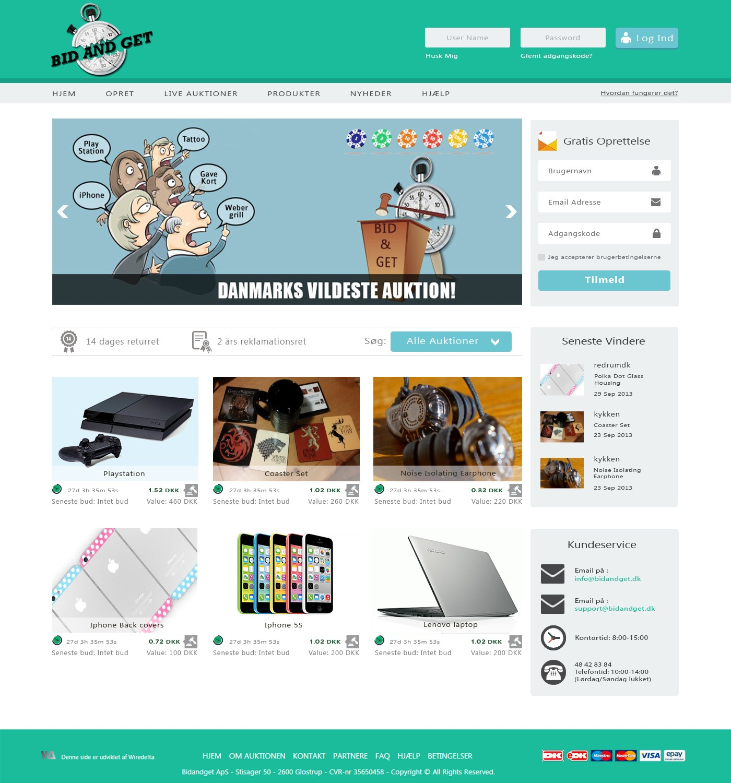 online bidding system homepage