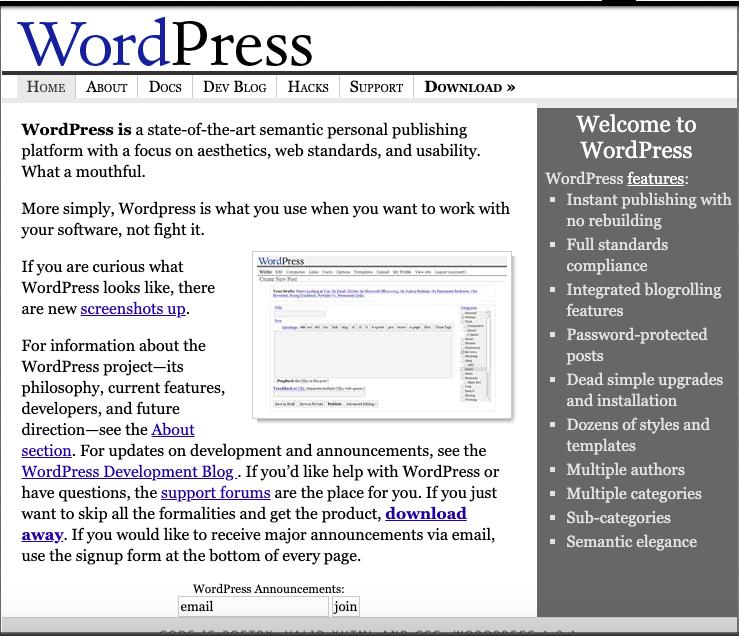 WordPress 2004