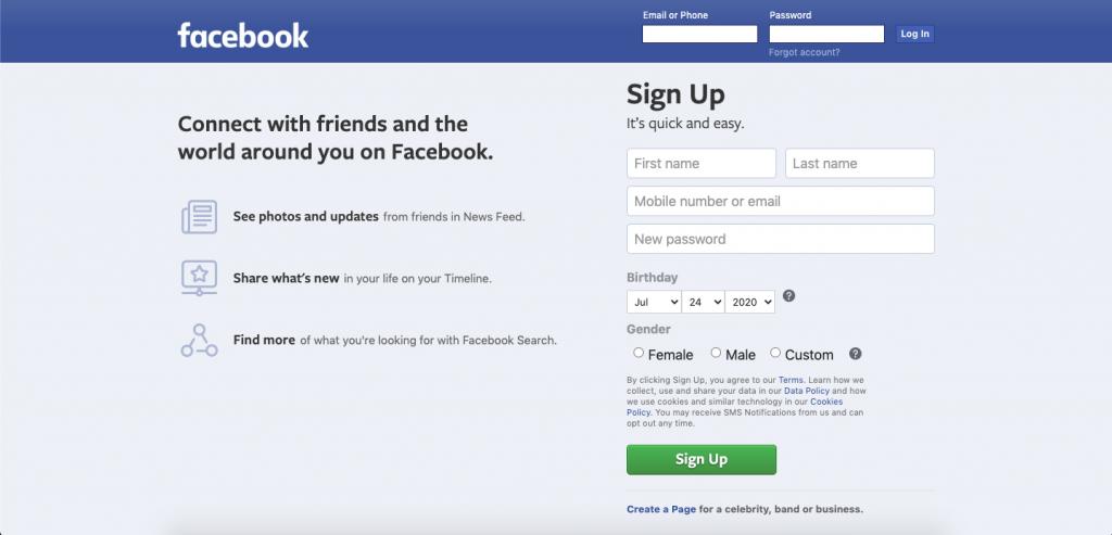 Facebook Top 10 Most Popular ReactJS Websites of 2020