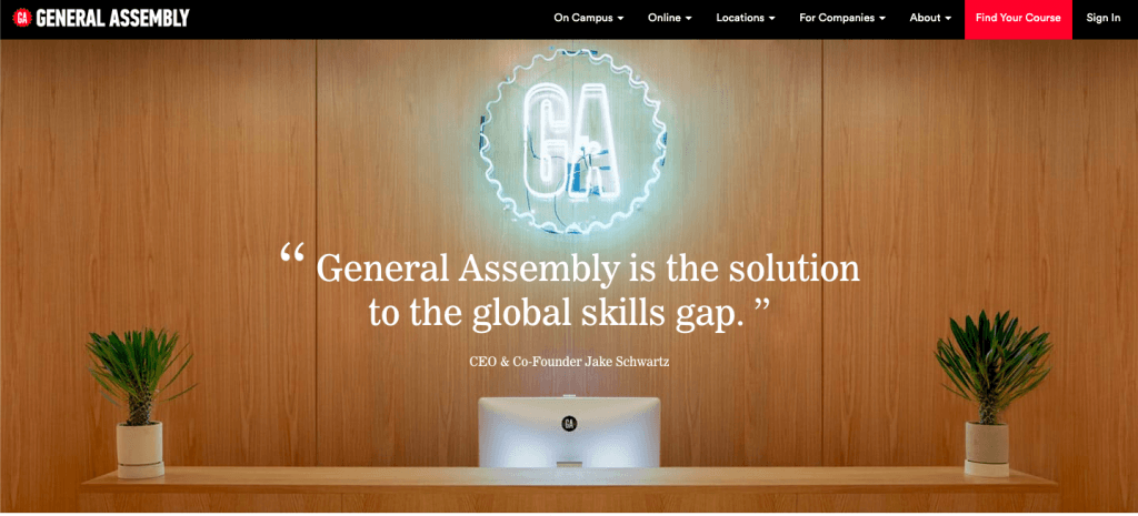 General Assembly coding school