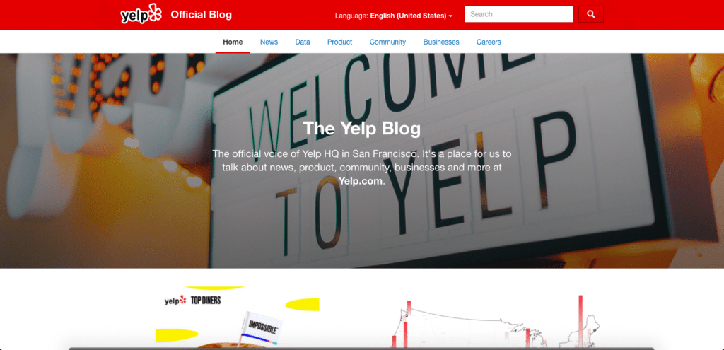 Yelp Blog wordpress