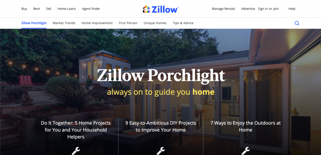 Zillow Porchlight wordpress