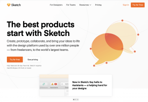 Sketch - 10 Most Popular Prototyping Tools of 2020