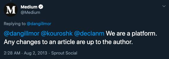 Medium official twitter