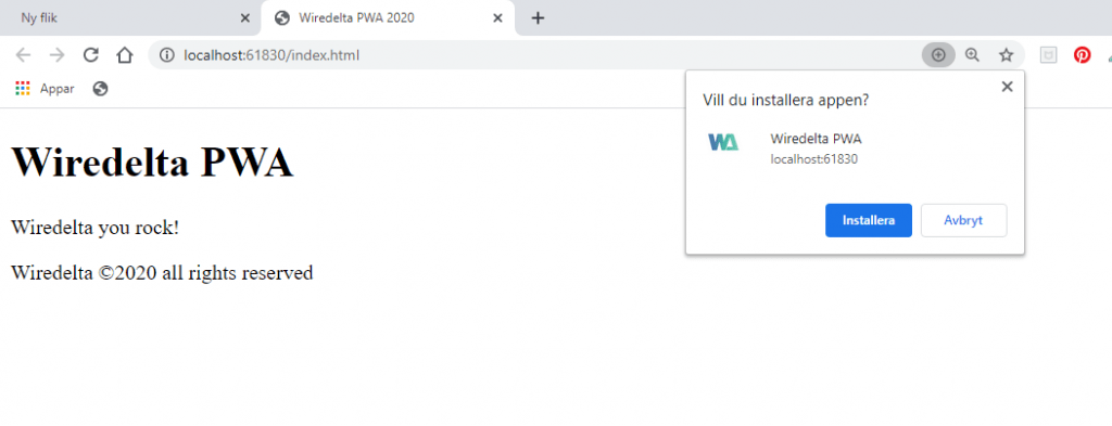 how a PWA looks like