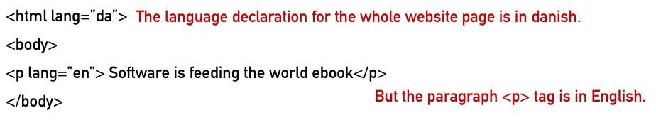 Combining languages in HTML declarations