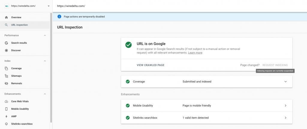 How to index pages through Google Search Console
