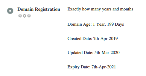 domain registration age