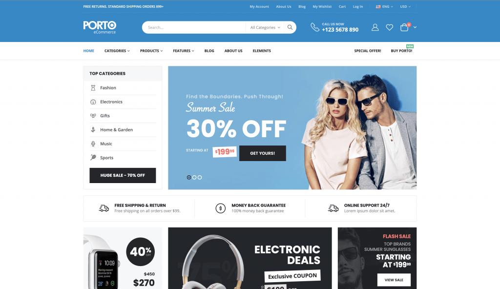 eCommerce Themes for WordPress - Porto