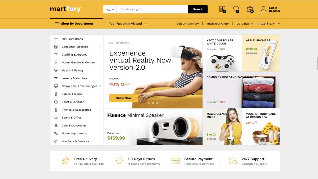 eCommerce Themes for WordPress - Martfury
