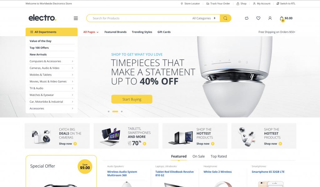 eCommerce Themes for WordPress - Electro Electronics Store