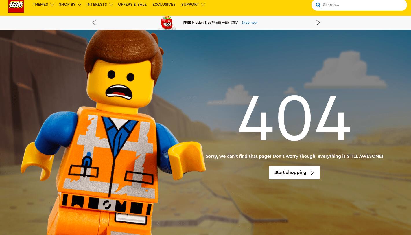 Lego 404 custom page