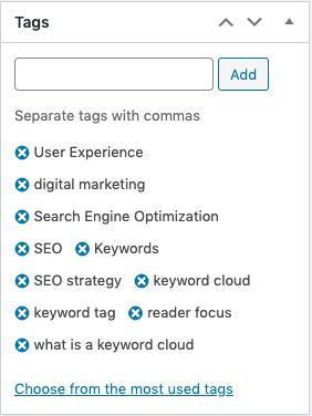 Tag cloud vs keyword cloud