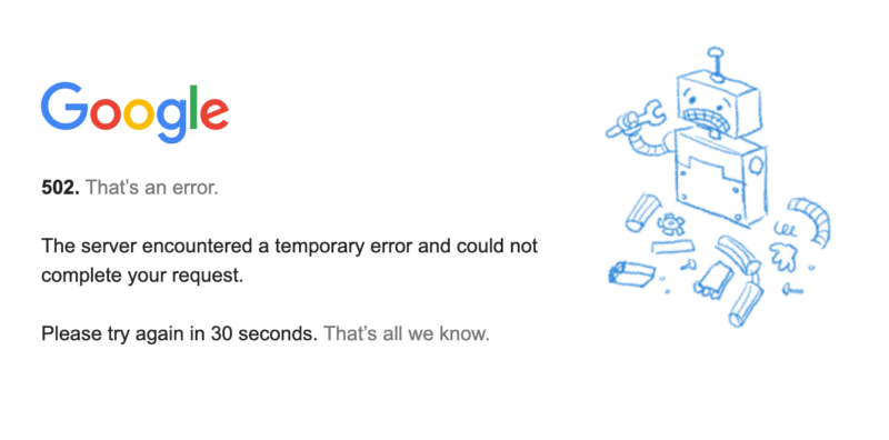 Google's outage makes the world stop in place