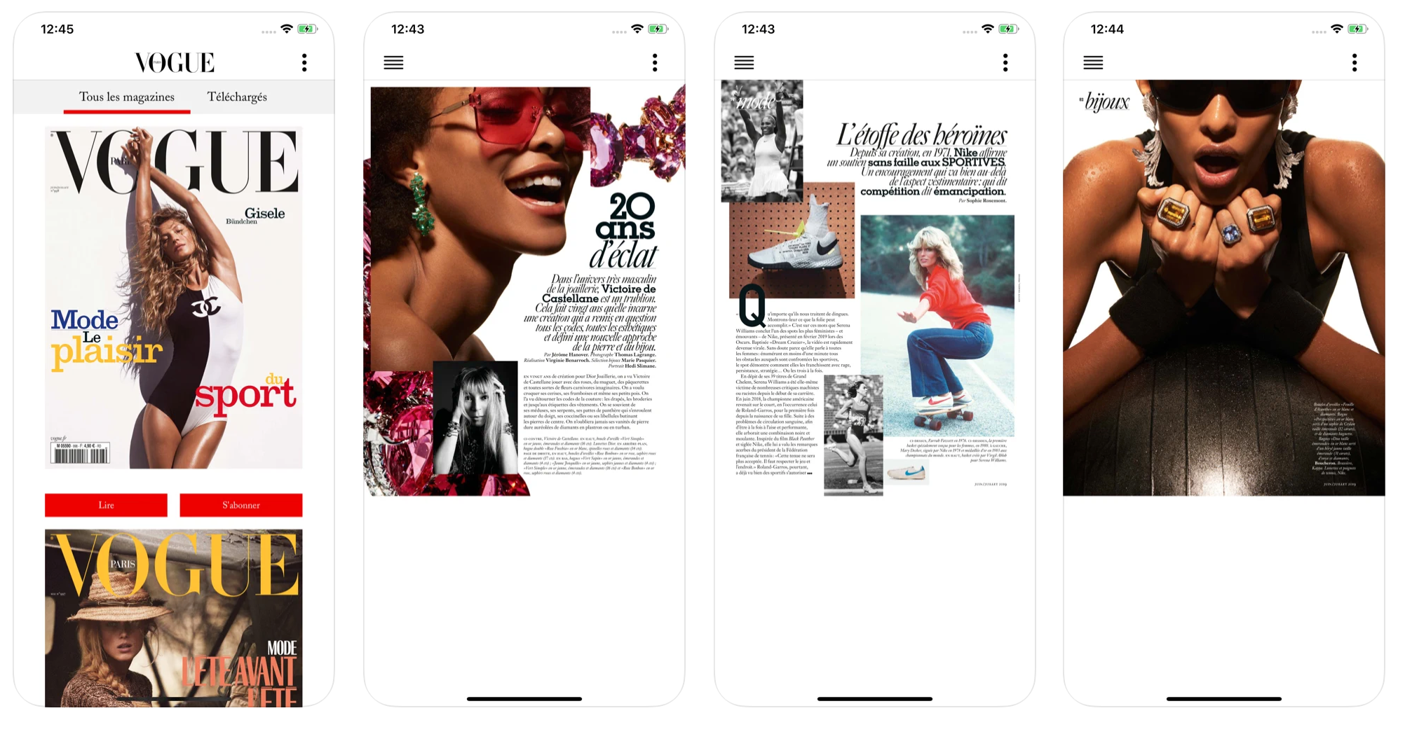 React Native App Vogue Magazine
