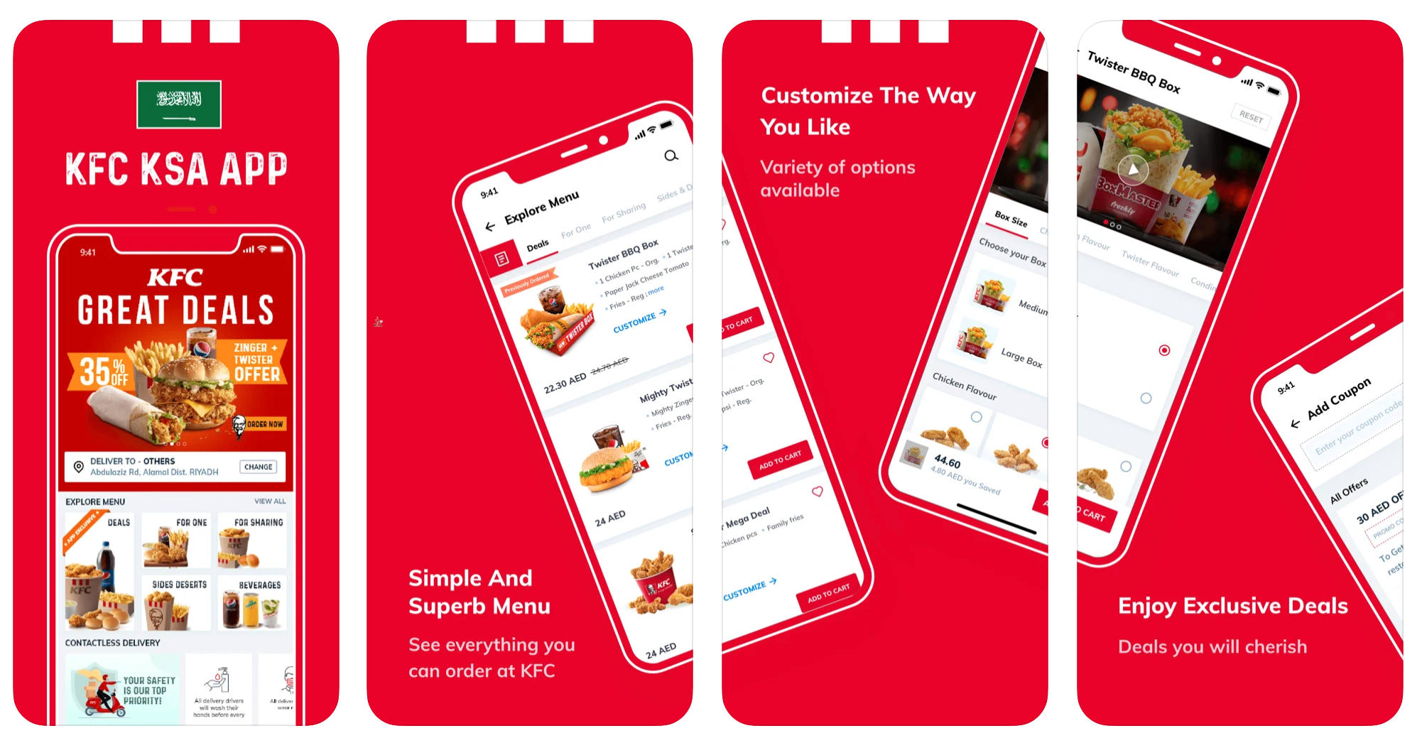 React Native App KFC