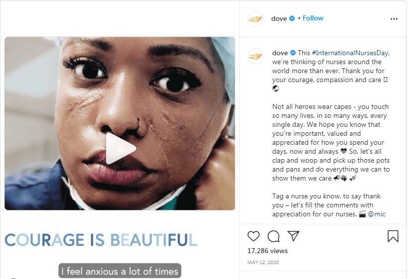 Courage is beautiful social media marketing campaign