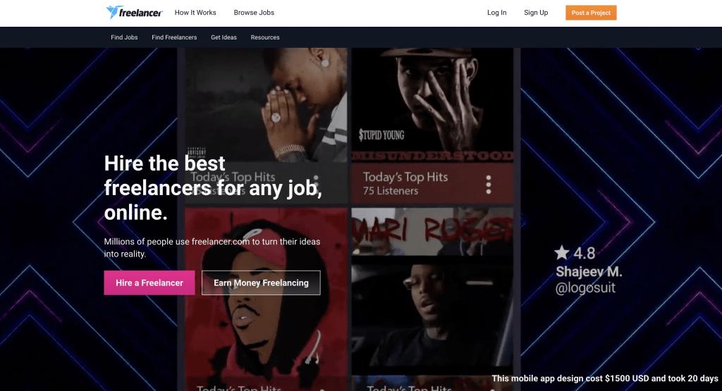 Freelancer - Most Popular Angular Websites