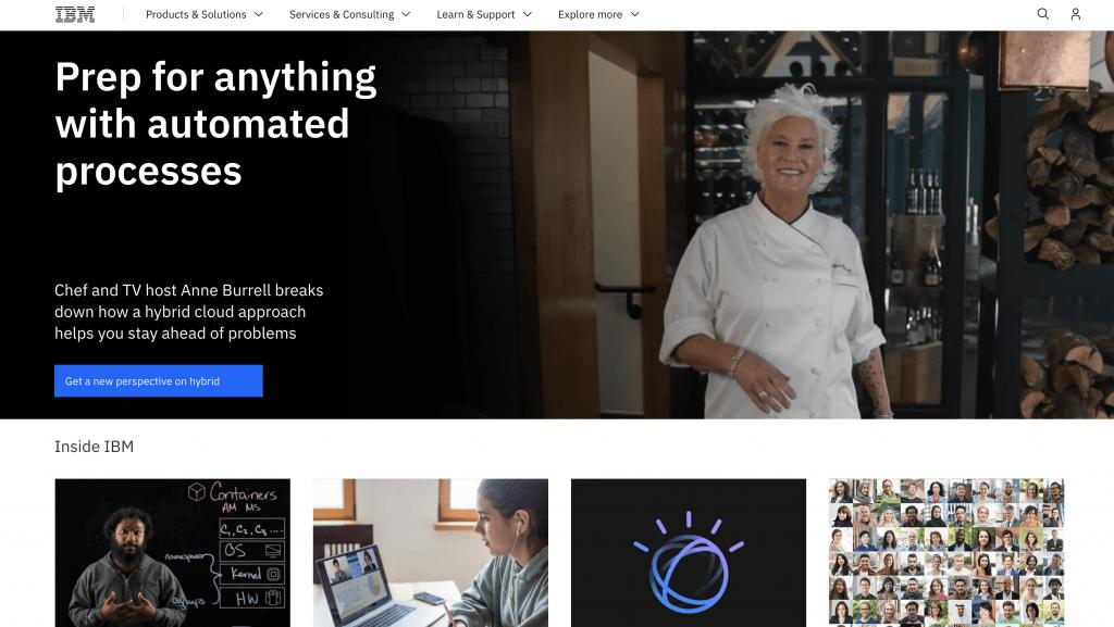 IBM - Most Popular Angular Websites