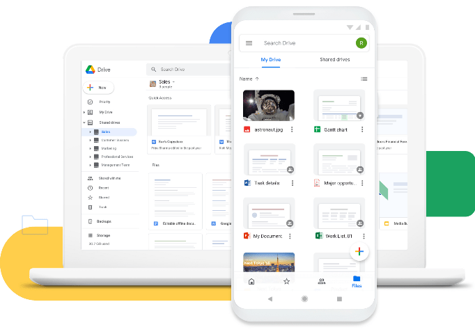 Google Drive easily accessible on any mobile device and computer