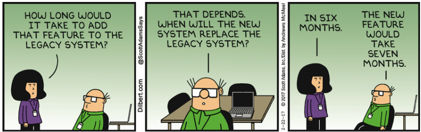Legacy systems - dilbert