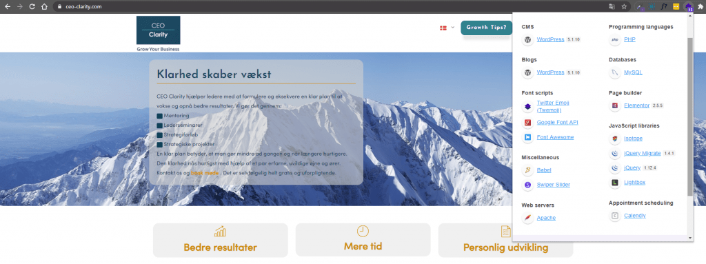 A simple CMS website example